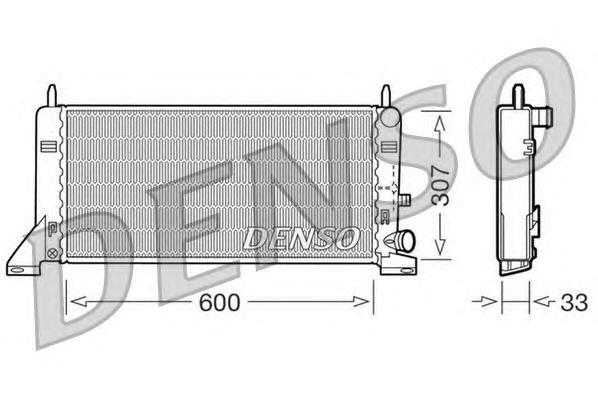 DRM10023 DENSO Радиатор, охлаждение двигателя