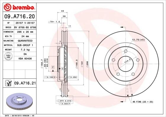 25157V LPR Тормозной диск