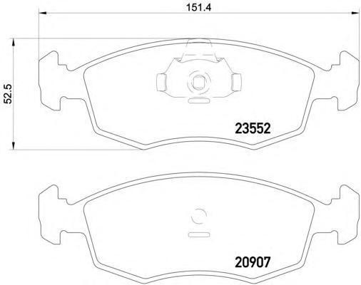 8DB355009131 HELLA Комп. дисковых торм. колодок
