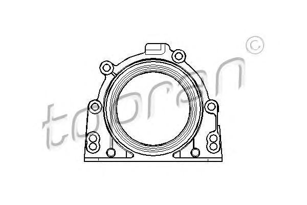 107754 TOPRAN Уплотняющее кольцо, коленчатый вал