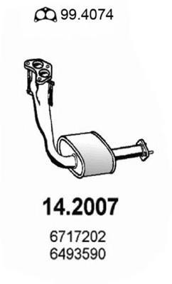 Предглушитель выхлопных газов ASSO 142007