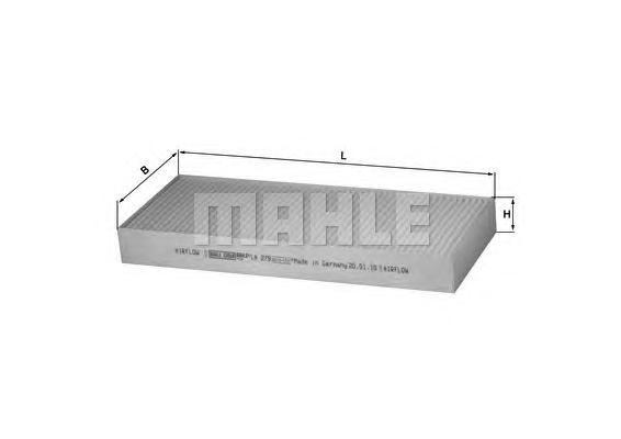LA279 MAHLE Фильтр, воздух во внутренном пространстве