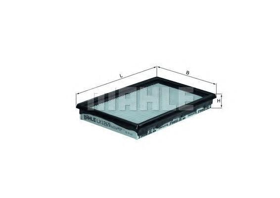 LX1269 MAHLE/KNECHT Воздушный фильтр