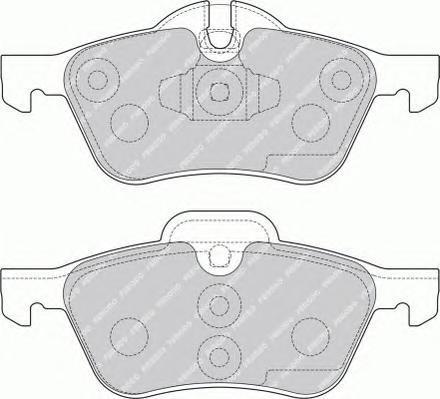 FDB1499 FERODO Комплект тормозных колодок, дисковый тормоз