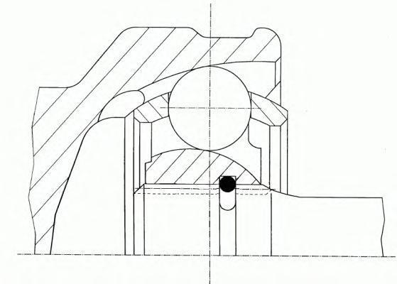 21759 GKN-SPIDAN Шарнирный комплект, приводной вал