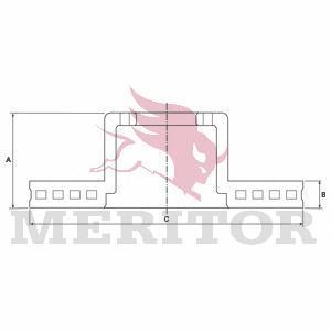 Тормозной диск MERITOR MBR5046