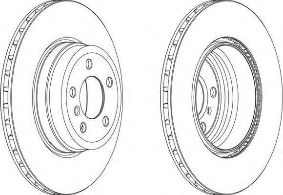 DDF1716C FERODO Тормозной диск