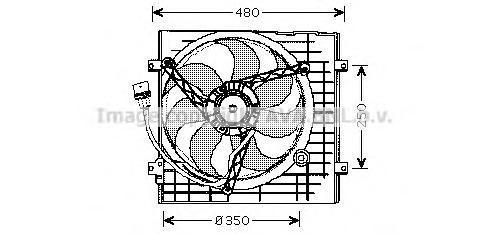 VW7506 AVA Вентилятор, охлаждение двигателя