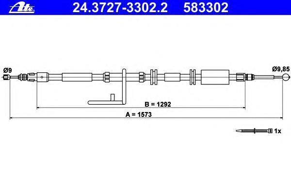24372733022 ATE Трос, стояночная тормозная система