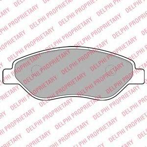 LP2010 DELPHI Комплект тормозных колодок, дисковый тормоз