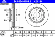 24012401841 ATE Тормозной диск