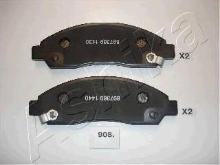 5009908 ASHIKA Комплект тормозных колодок, дисковый тормоз