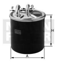WK82022 MANN-FILTER Топливный фильтр