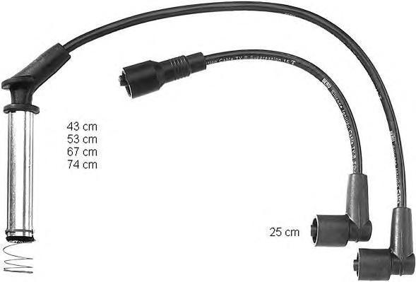 ZEF726 BERU Комплект проводов зажигания