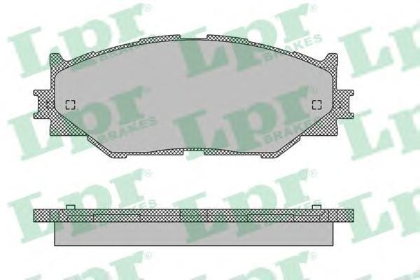 05P1412 LPR Комплект тормозных колодок, дисковый тормоз