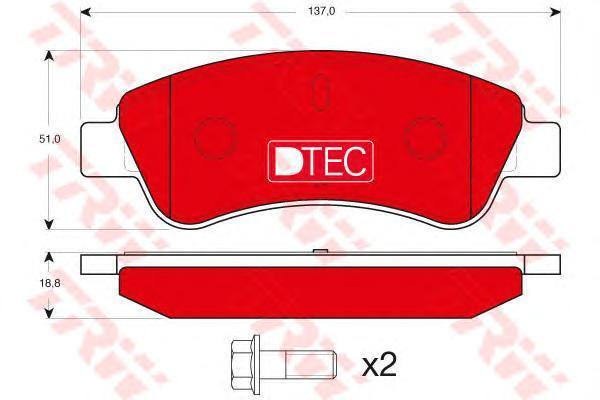 GDB1463DTE TRW/LUCAS Комплект тормозных колодок