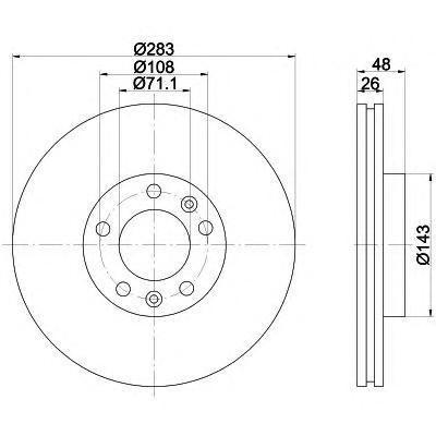 Тормозной диск TEXTAR 92111803