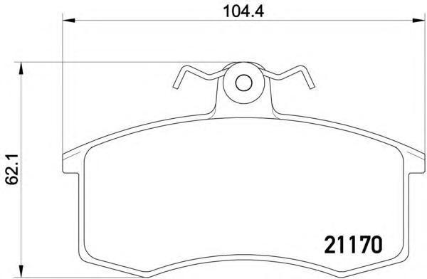 8DB355017731 BEHR-HELLA Колодки тормозные дисковые, комплект