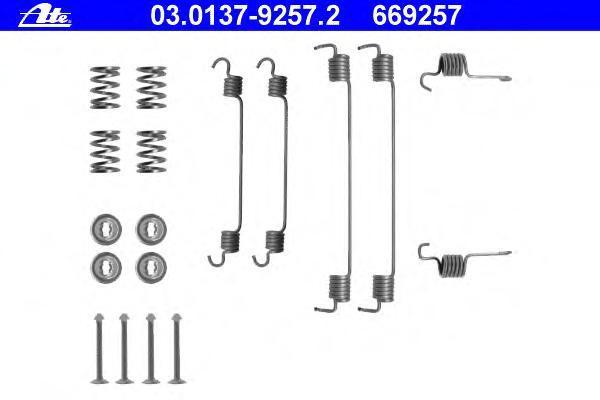 03013792572 ATE Комплектующие, тормозная колодка