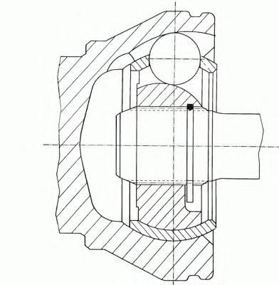 302243 GKN (LOEBRO) Шарнирный комплект, приводной вал
