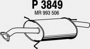 P3849 FENNO Глушитель выхлопных газов конечный