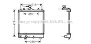 OLA2330 AVA Радиатор, охлаждение двигателя