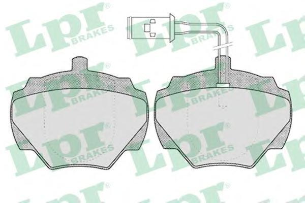 05P431 LPR/AP Комплект тормозных колодок, дисковый тормоз