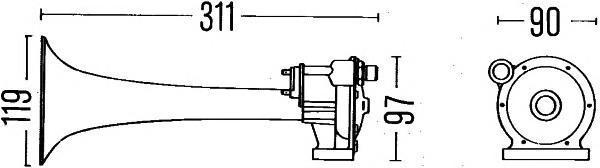 3PA004206011 BEHR-HELLA Звуковой сигнал