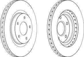 DDF16241 FERODO Тормозной диск