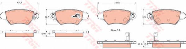 GDB1352 TRW Комплект тормозных колодок, дисковый тормоз