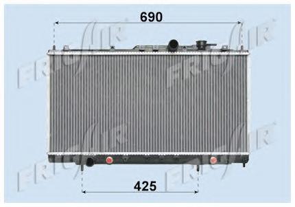 01183018 FRIG AIR Радиатор, охлаждение двигателя