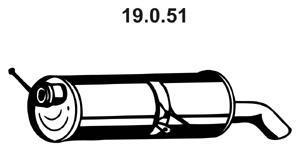 19051 EBERSPACHER Глушитель выхлопных газов конечный