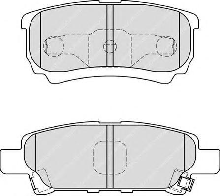 Комплект тормозных колодок, дисковый тормоз FERODO FDB1839