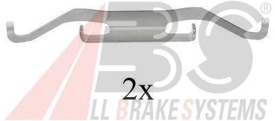 1680Q ABS Монтажный комплект тормозных колодок.