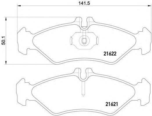 2162102 TEXTAR Комплект тормозных колодок, дисковый тормоз