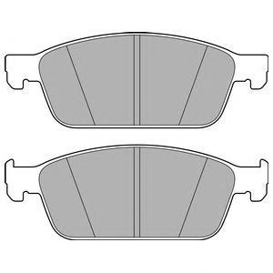 Колодки тормозные дисковые, комплект DELPHI LP2495