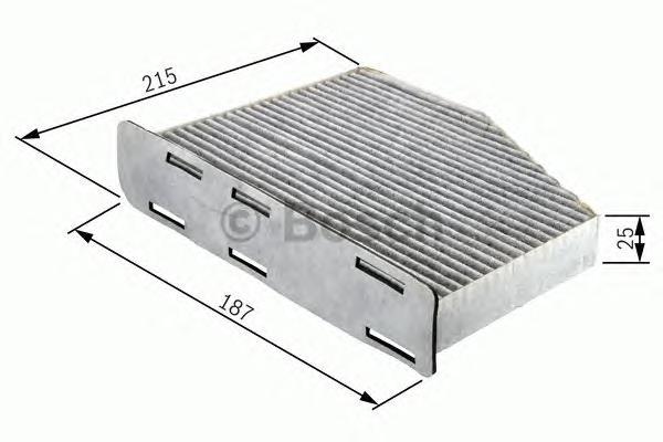 1987432105 BOSCH Фильтр, воздух во внутреннем пространстве