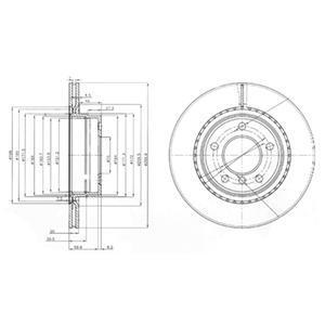 BG3901 DELPHI Тормозной диск
