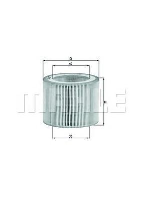 LX3009 MAHLE Воздушный фильтр