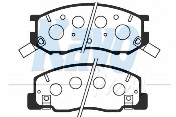 Комплект тормозных колодок, дисковый тормоз KAVO PARTS BP9041