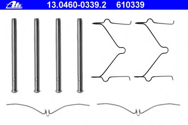 13046003392 ATE Комплектующие, колодки дискового тормоза