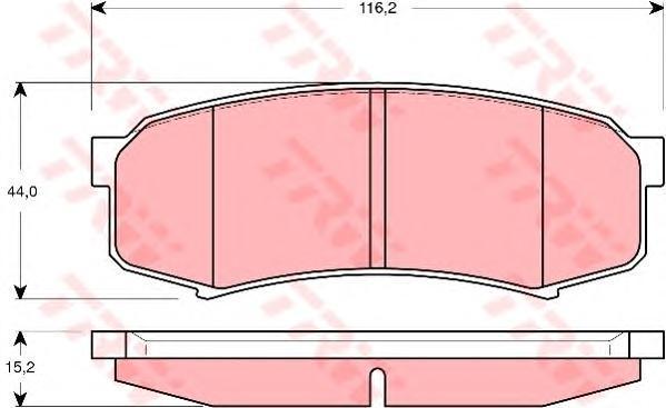 GDB3280 TRW Комплект тормозных колодок, дисковый тормоз