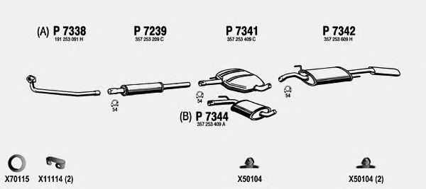 VW141 FENNO Система выпуска ОГ
