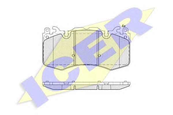 181956 ICER Комплект тормозных колодок, дисковый тормоз