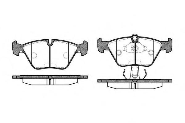 Комплект тормозных колодок, дисковый тормоз ROAD HOUSE 227015