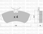 2201620 METELLI Комплект тормозных колодок, дисковый тормоз