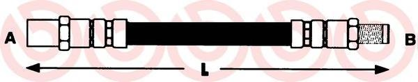 Тормозной шланг BREMBO T85058