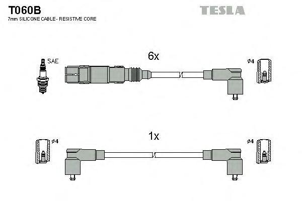 Комплект проводов зажигания TESLA T060B