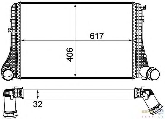 8ML376787621 BEHR-HELLA Интеркулер