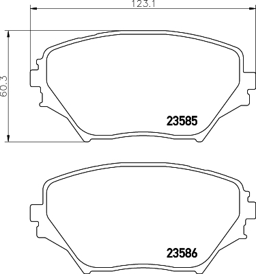 8DB355009741 HELLA Комплект тормозных колодок, дисковый тормоз